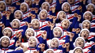 La delegación norcoreana vino acompañada por un grupo de porristas a los Juegos Olímpicos de Invierno de Pyeongchang.