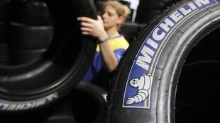 Production at Michelin's factory at Le Mans