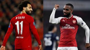 Le Brexit: quelles conséquences sportives? Mohamed Salah (Liverpool) (©Reuters/Jason Cairnduff) et Alexandre Lacazette (Arsenal) (©Reuters/Dylan Martinez).