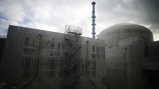 This file photo taken on February 2, 2018 shows the Flamanville 3 reactor at the construction site of the third-generation European Pressurised Water nuclear reactor (EPR) in Flamanville, northwestern France.