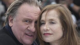 Жерар Депардье и Изабель Юппер на Каннском кинофестивале, 22 мая 2015.