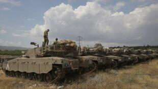 Израильские танки на Голанских высотах. 9 мая 2018