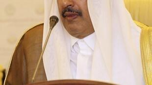 Qatar's Prime Minister and Foreign Minister Hamad bin Jassim bin Jabr Al-Thani at Arab League meeting