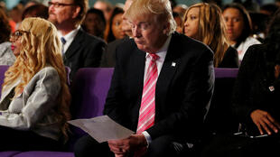 Donald Trump dans une église de Détroit, le 3 septembre 2016, pour une rencontre de la communauté afro-américaine. Il était alors candidat à la Maison Blanche.