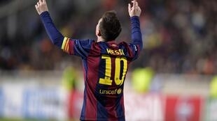 Lionel Messi scored twice as Barcelona beat Bayern Munich 3-0 in the first leg of their Uefa Champions League semi-final