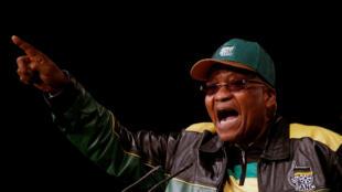 Jacob Zuma lors de la 5e conférence politique du parti ANC le 30 juin 2017.