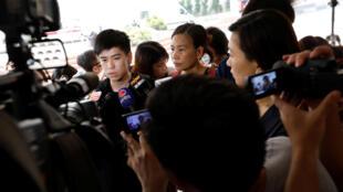 2017年8月22日前香港雨伞运动学生领袖岑敖晖前往上诉庭听审