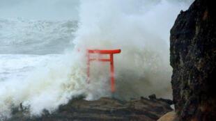 O Tufão Lionrock chega ao Japão