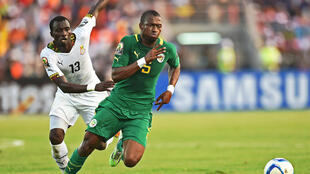 Papakouli Diop of Senegal dominated Ghana on the CAN first day