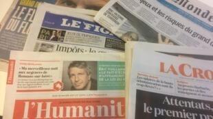 Primeiras páginas dos jornais franceses de 10 de janeiro de 2019