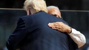 Le président des États-Unis Donald Trump et le Premier ministre indien Narendra Modi, le 24 février 2020.
