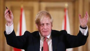 英國首相約翰遜 2020年4月2日 資料照片
