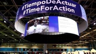 Frans Timmermans, phó chủ tịch Liên Hiệp Châu Âu phụ trách chương trình Thỏa thuận Xanh châu Âu phát biểu tại Hội nghị Biến đổi Khí hậu Liên Hiệp Quốc COP25 tại Madrid, Tây Ban Nha, ngày 12/12/2019.