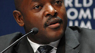 Serving president and sole presidential candidate Pierre Nkurunziza