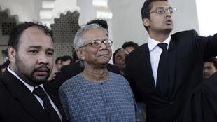 Yunus arrives in court for hearing challenging his dismissal