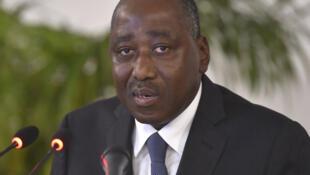 Le Premier ministre ivoirien Amadou Gon Coulibaly à Abidjan.