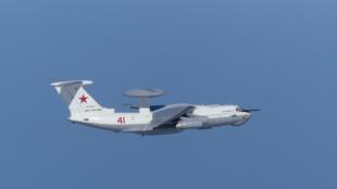 Российский самолет дальнего радиолокационного обнаруженияА-50 над Японским морем 23.07.2019. Фото сделано ВВС Японии.