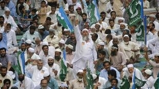 An Islamist party demonstrates against US drone strikes in Karachi on Saturday