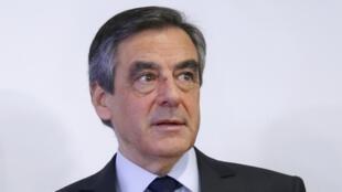 O candidato da direita francesa à presidência, François Fillon.