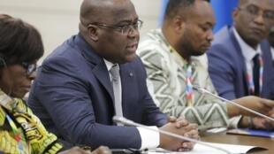 Le président de la RDC, Félix Tshisekedi, lors du sommet Russie-Afrique de Sotchi, le 23 octobre 2019.
