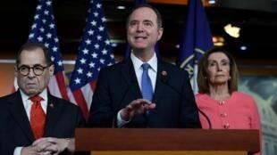 Siete demócratas fueron designados para sostener la acusación contra Trump en el Senado. Adam Schiff, presidente del Comité de Inteligencia de la Cámara Baja, se desempeñará como fiscal principal del juicio.