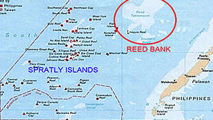 Bãi Cỏ Rong (Reed Bank), Biển Đông, nơi xảy ra vụ tàu Trung Quốc đụng chìm tàu cá Philippines hôm 09/06/2019.