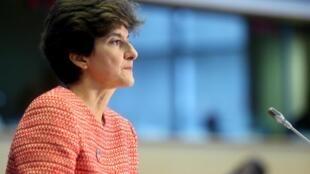 La commissaire Sylvie Goulard, lors de son audition devant le Parlement européen à Bruxelles, ce mercredi 2 octobre 2019.