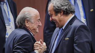 Sepp Blatter et Michel Platini en juin 2015.