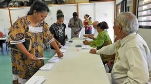 An election in Noumea, New Caledonia's capital on 22 April 2012 (File Picture)