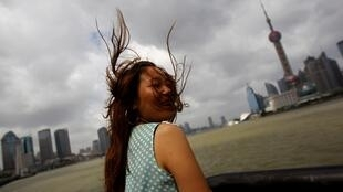 Winds lash Shanghai at the weekend