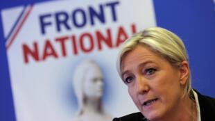 A líder da extrema direita francesa, Marine Le Pen.
