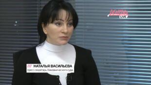 "Наталья Васильева, кадр эфира телеканала ""Дождь""."