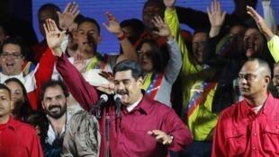 El presidente de Venezuela Nicolás Maduro, reelecto el domingo 20 de mayo con 68% de los sufragios.