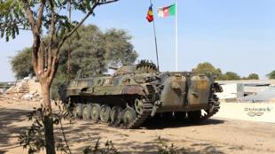 Une patrouille militaire tchadienne au Nigeria pour lutter contre Boko Haram, le 3 février 2015.