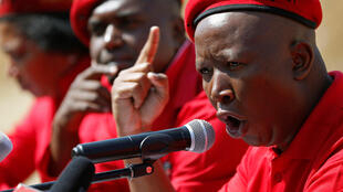 Julius Malema speaking to EFF supporters in Alexandra township, Johannesburg