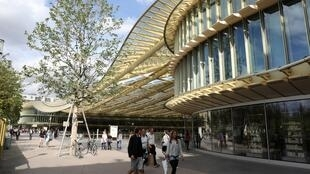 The 'Canopy' which covers the revamped Paris Forum des Halles was designed by French architects Patrick Berger and Jacques Anziutti.