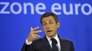French President Nicolas Sarkozy last month