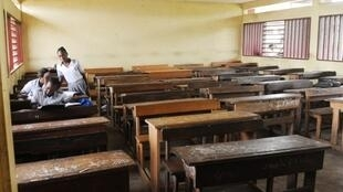 Salle de classe à Libreville, au Gabon.