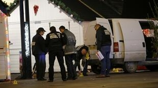 Investigators at Nantes Christmas Market where a car driver targeted pedestrians