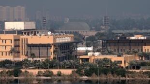 Vue générale de l'ambassade américaine qui se trouve dans la «zone verte» à Bagdad.