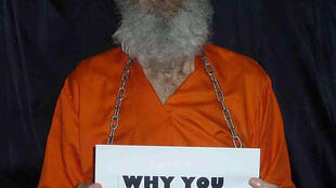 A photograph of the captive Bob Levinson released in January 2013 by his wife, who said the image was nearly two years old