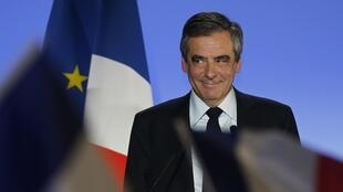 François Fillon, lors de son meeting à Lille le 18 avril 2017.
