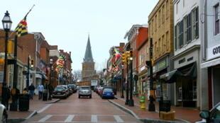 Centro de Annapolis, em Maryland, Estados Unidos.