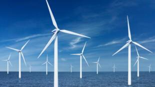 La France lance un appel d'offres pour la construction de 600 éoliennes en mer, le 11 juillet 2011.