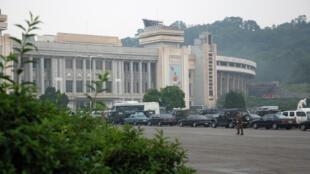 Le stade Kim Il-sung de Pyongyang, en Corée du Nord.