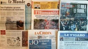 Diários franceses desta quarta-feira 13 de Setembro de 2017.