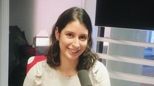La romancière franco-mauricienne Caroline Laurent en studio à RFI (janvier 2020)