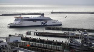 Phà Spirit of France tại cảng Dover, Anh, ngày 07/01/2019.