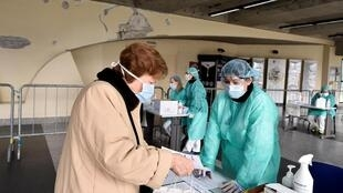 Пункт медпомощи, Брешия, Италия, 3 марта 2020 года.