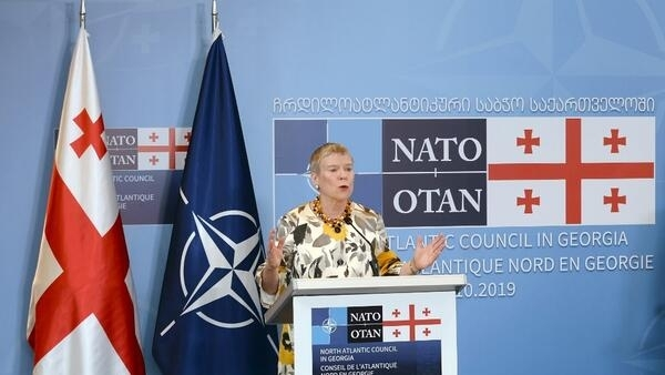 Заместитель генсекретаря НАТО Роуз Гетемюллер в Батуми, 3 октября 2019